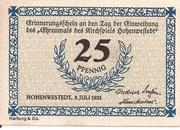 25 Pfennig (Hohenwestedt) – avers