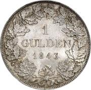 1 Gulden - Friedrich Wilhelm Constantin – revers