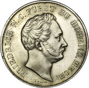 2 Gulden - Friedrich Wilhelm Constantin – avers