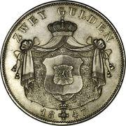 2 Gulden - Friedrich Wilhelm Constantin – revers