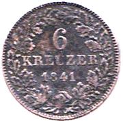 6 Kreuzer - Friedrich Wilhelm Constantin – revers