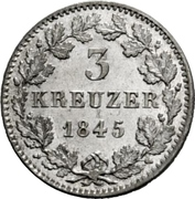 3 Kreuzer - Friedrich Wilhelm Constantin – revers