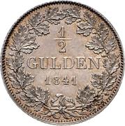 ½ Gulden - Friedrich Wilhelm Constantin – revers