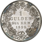1 Gulden - Friedrich Wilhelm IV – revers