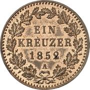 1 Kreuzer - Friedrich Wilhelm IV – revers