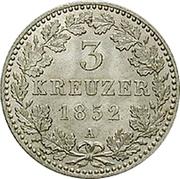 3 Kreuzer - Friedrich Wilhelm IV -  revers