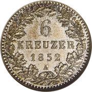 6 Kreuzer - Friedrich Wilhelm IV – revers