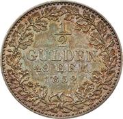 ½ Gulden - Friedrich Wilhelm IV – revers
