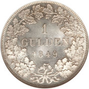1 Gulden - Carl Anton – revers