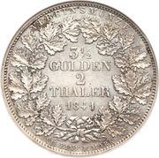 2 Thaler / 3½ Gulden - Carl – revers