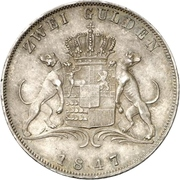 2 Gulden - Carl – revers