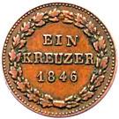 1 Kreuzer - Carl – revers