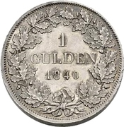 1 Gulden - Carl – revers