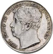 ½ Gulden - Carl Anton (Piedfort) – avers