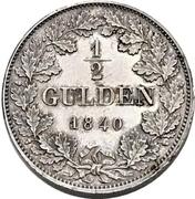 ½ Gulden - Carl Anton (Piedfort) – revers