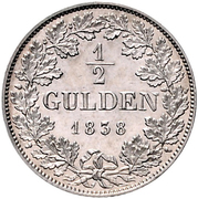 ½ Gulden - Carl – revers