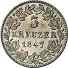 3 Kreuzer - Carl – revers