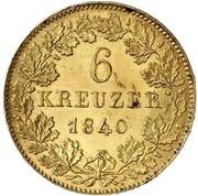 6 kreuzer Karl (Frappe essai en or) – revers