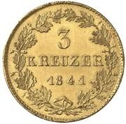 3 kreuzer Karl (Frappe essai en or) – revers
