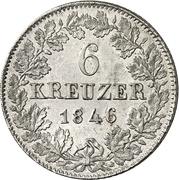 6 Kreuzer - Carl – revers