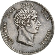 1 Gulden - Louis Napoleon – avers