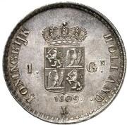 1 Gulden - Louis Napoleon – revers