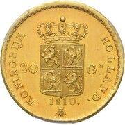 20 Gulden - Louis Napoleon – revers