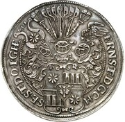 2 thaler Ernst III – avers