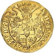 1 thaler Justus Hermann (Frappe essai en or) – avers