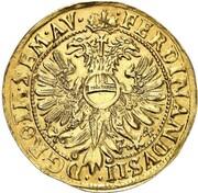 1 thaler Justus Hermann (Frappe essai en or) – revers