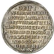 1 Thaler - Ernst III. (Décès) – revers