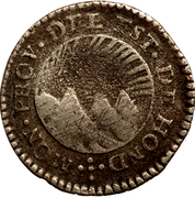 ½ real (Etat du Honduras - Monnaie temporaire ) – avers