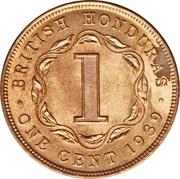 1 cent - George VI – revers