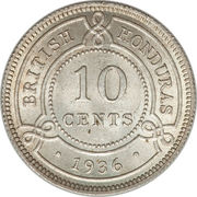 10 cents - George V – revers