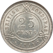 25 cents - George V – revers