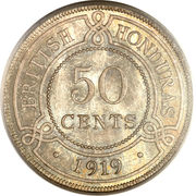 50 cents - George V – revers