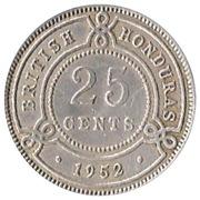 25 cents - George VI – revers