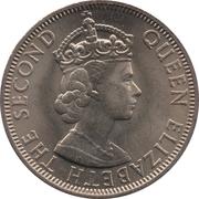 50 cents - Elizabeth II (1ere effigie) – avers