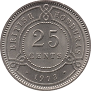 25 cents - Elizabeth II (1ere effigie) – revers
