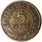 5 cents - George VI – revers