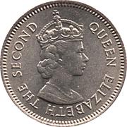10 cents - Elizabeth II (1ére effigie) – avers