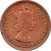 1 cent - Elizabeth II (1ere effigie) – avers