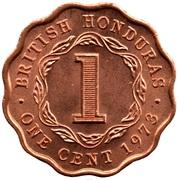 1 cent - Elizabeth II (1ère effigie) – revers