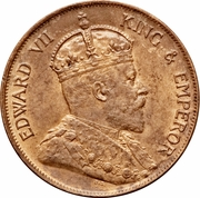 1 cent - Edward VII – avers