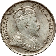 5 cents - Edward VII – avers