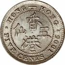 5 cents - Edward VII – revers