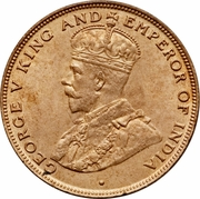 1 cent - George V (grand module) – avers