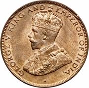 1 cent - George V (petit module) – avers