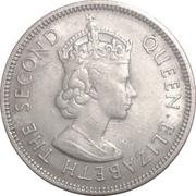 50 cents - Elizabeth II (1ere effigie) -  avers
