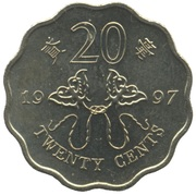 20 cents (rétrocession à la Chine) – revers